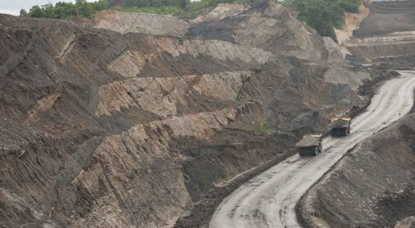 Coal Hauling from Pit to Stockpile